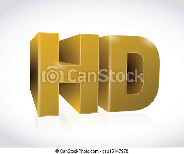 gold 3d hd text illustration design - csp15147978