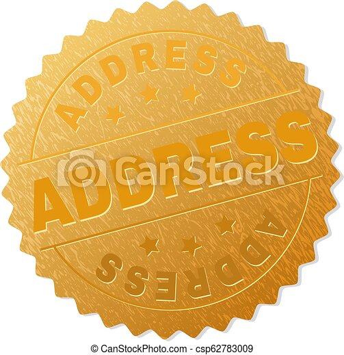 Gold ADDRESS Badge Stamp - csp62783009