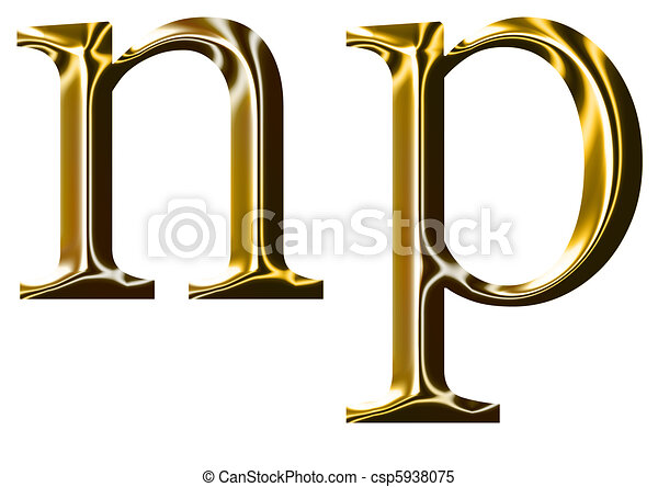 Gold Alphabet Symbol N P Gold Alphabet Symbol N P Lowercase