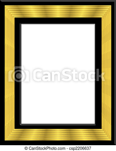 Gold and black frame, border, insert photo or text.