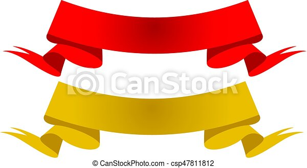 gold and red banner ribbon vector clip art search illustration rh canstockphoto com awareness ribbon vector art free ribbon vector art