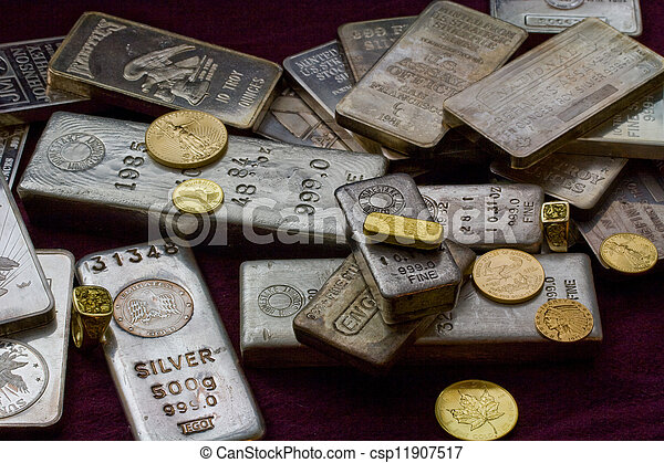 Gold and Silver Bullion - csp11907517