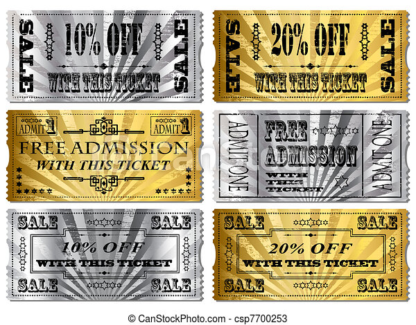 Gold and Silver tickets - csp7700253