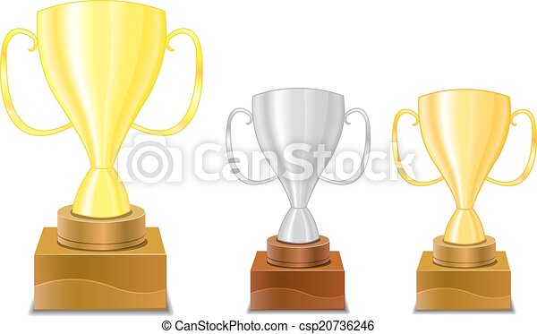 Gold And Silver Trophy Cups Icon