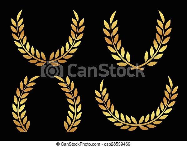 Gold award laurels - csp28539469