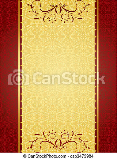 Gold background for design of cards and invitation vector gold background for design of cards and invitation csp3473984 stopboris Gallery