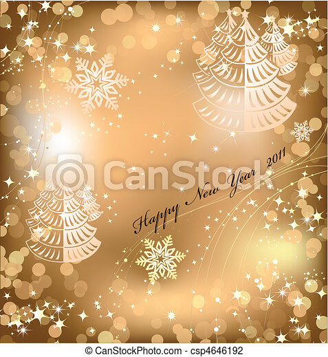 Gold background with sparkles star. Vector - csp4646192