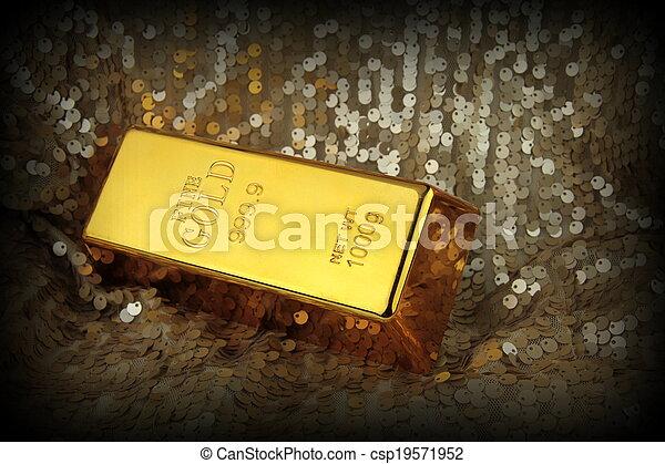 Gold bar - csp19571952
