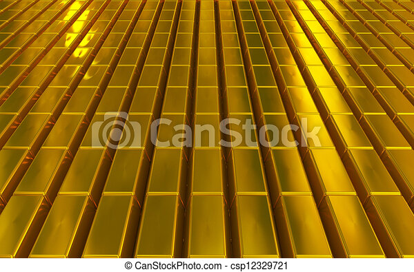 gold bars - csp12329721