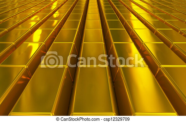 gold bars - csp12329709
