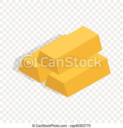 Gold Bars Isometric Icon