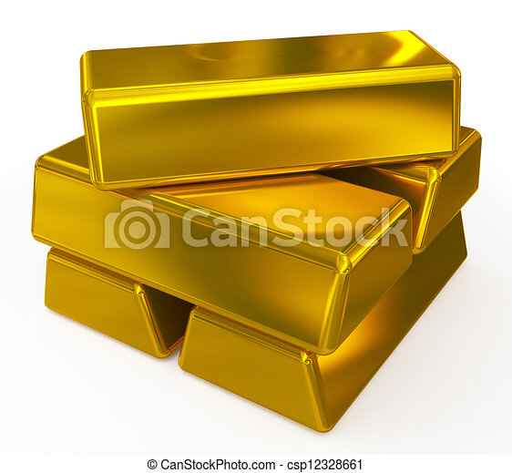 gold bars - csp12328661