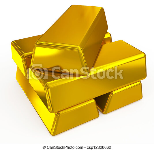 gold bars - csp12328662