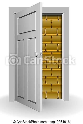 half open door drawing. Delighful Open Gold Behind Door  Csp12354916 Inside Half Open Door Drawing A