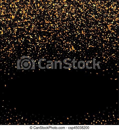 gold beschaffenheit schwarzer hintergrund konfetti glitzer goldenes gold abstrakt. Black Bedroom Furniture Sets. Home Design Ideas