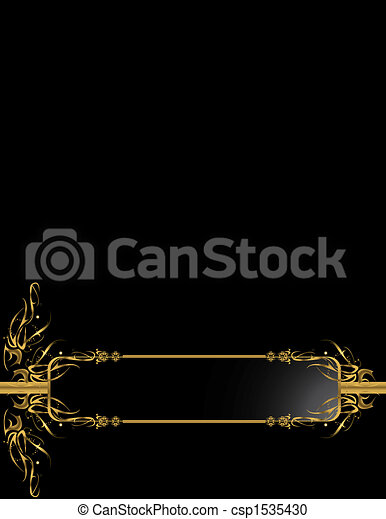 Gold Black elegant backgr - csp1535430