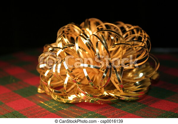 Gold Bow on Plaid - csp0016139