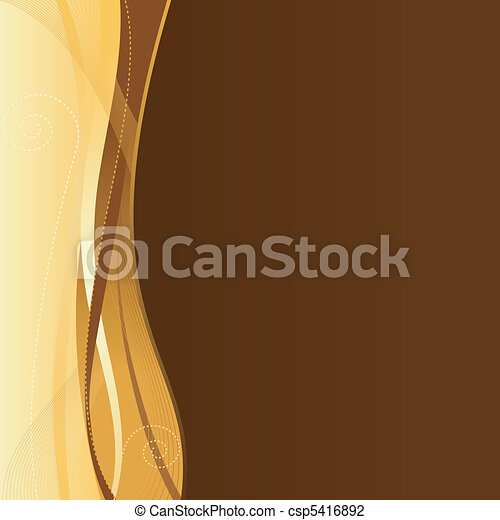 Gold brown corporate business web template with copy space.  - csp5416892