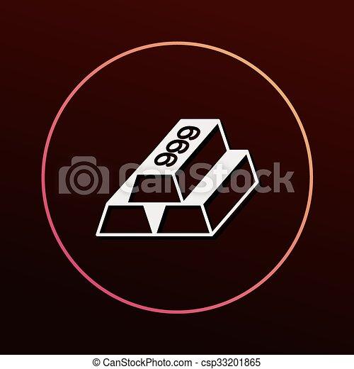 Gold bullion icon - csp33201865