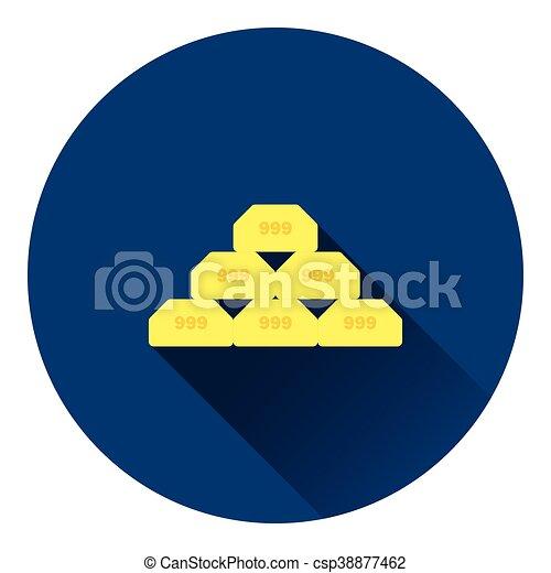 Gold bullion icon - csp38877462