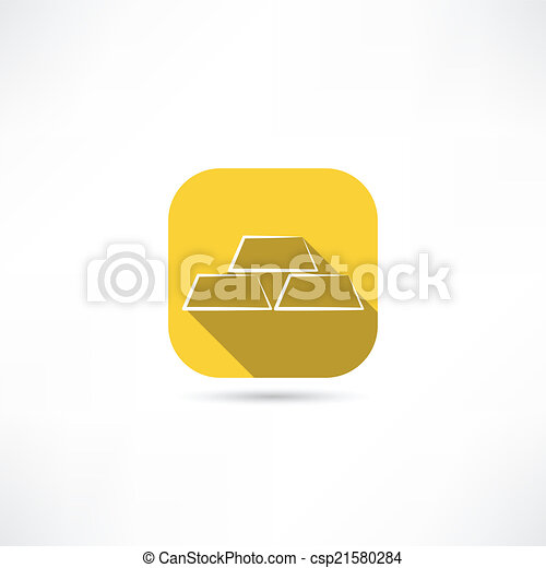 gold bullion icon - csp21580284