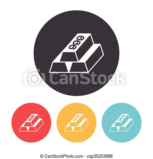Gold bullion icon - csp35203888