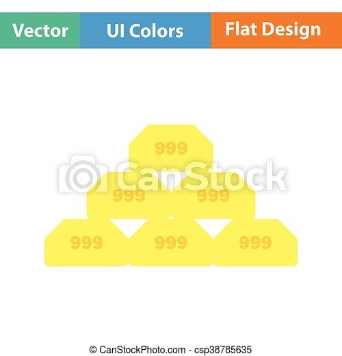 Gold bullion icon - csp38785635