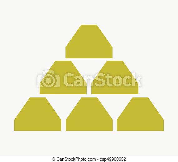 Gold bullion icon - csp49900632
