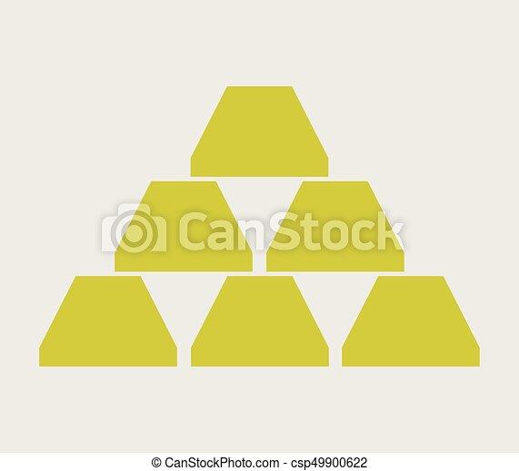 Gold bullion icon - csp49900622
