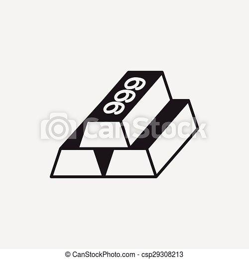 Gold bullion icon - csp29308213