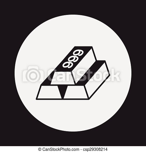 Gold bullion icon - csp29308214