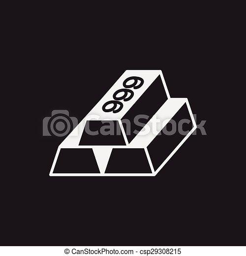 Gold bullion icon - csp29308215