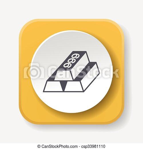 Gold bullion icon - csp33981110