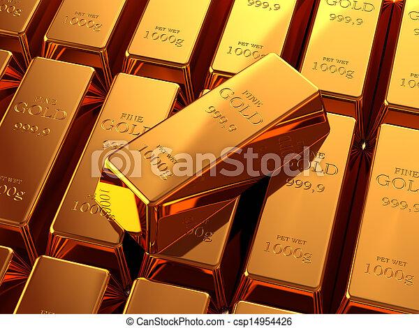 Gold Bullion - csp14954426