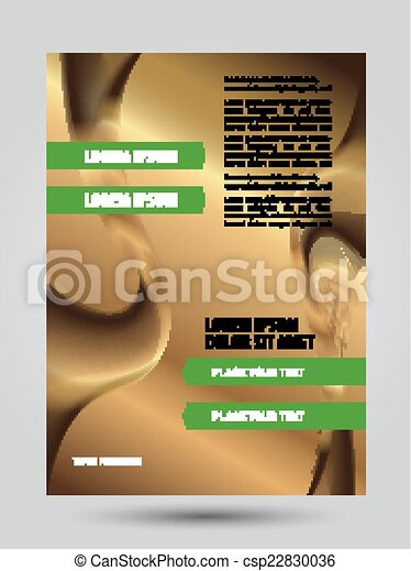 Gold business flyer background - csp22830036