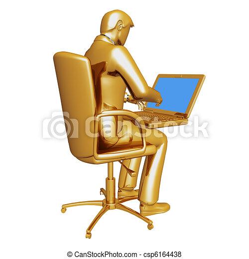 Gold businessman - csp6164438