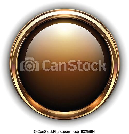 Gold button - csp19325694