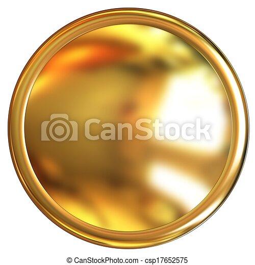 Gold button - csp17652575