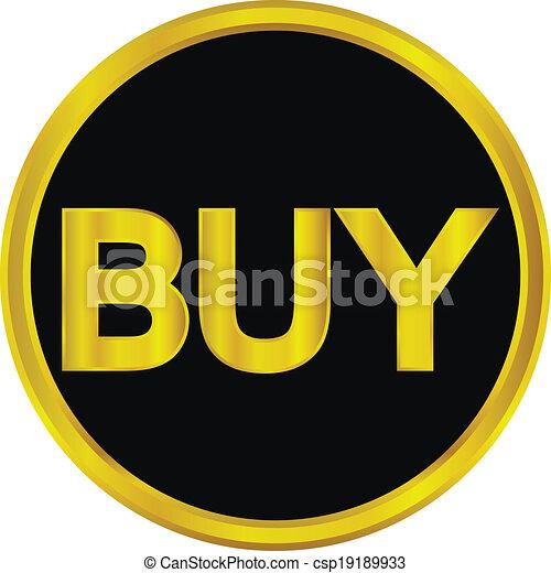 Gold buy button - csp19189933