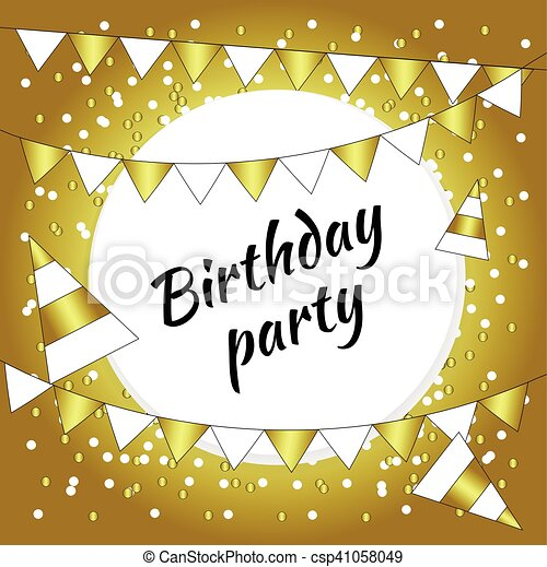 Gold Card Birthday Party
