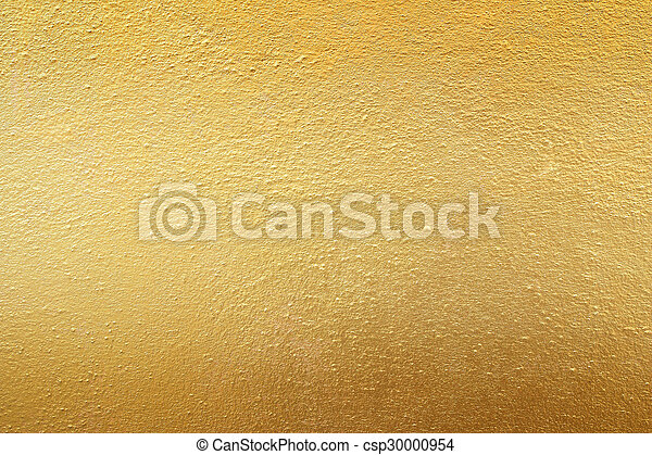 Gold cement wall texture background - csp30000954