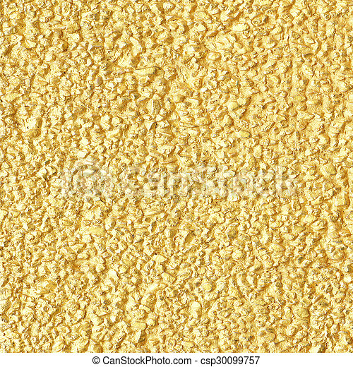 Gold cement wall texture background - csp30099757
