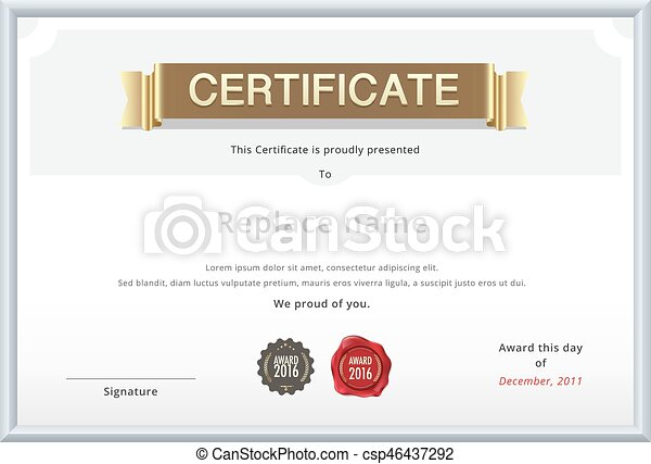 Gold certificate template education diploma with gold text eps gold certificate template education diploma with gold text sample wax stamp international paper yadclub Choice Image