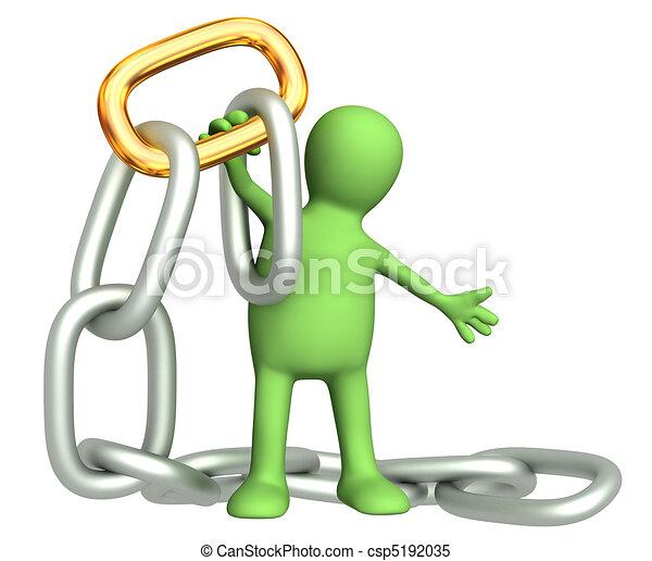 Gold chain link  - csp5192035