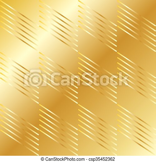 Gold Checkered pattern diagonal - csp35452362