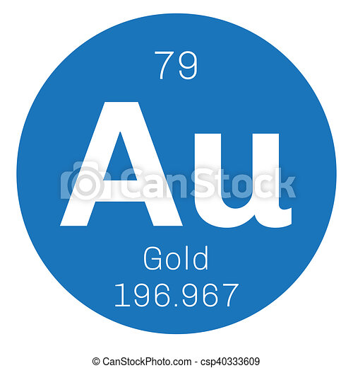 Gold chemical element one of the least reactive chemical elements gold chemical element one of the least reactive chemical elements colored icon with atomic number and atomic weight chemical element of periodic table urtaz Image collections
