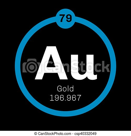 Gold chemical element one of the least reactive chemical elements gold chemical element one of the least reactive chemical elements colored icon with atomic number and atomic weight chemical element of periodic table urtaz Images