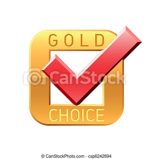 Gold choice tick emblem - csp6242694