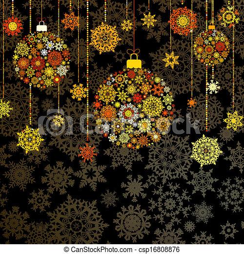 Gold christmas background. EPS 10 - csp16808876