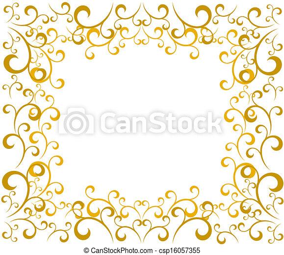 gold christmas elegant gold vintage christmas border vector